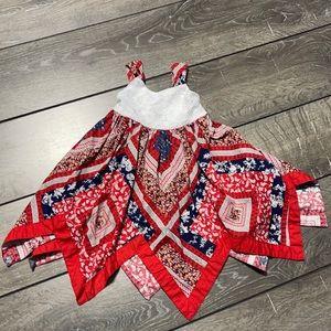 Blueberi Boulevard 4th Of July Scarf Bottom Dress